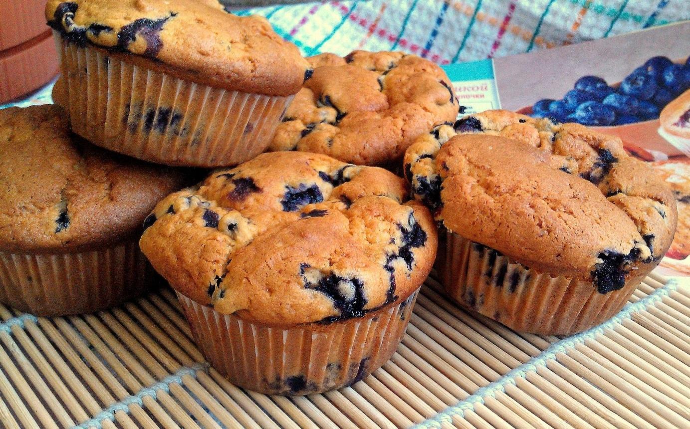 Черничные кексы рецепт с фото